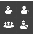 People flat icons set on Black vector image vector image