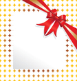 Red ribbon gold paper vector image