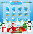 santa snow game with snowman vector image vector image