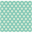 Seamless pattern pale green polka dots vector image vector image