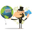 selling and buying earth vector image vector image