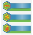 Set of car repair service banners with icons vector image vector image