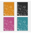 Set of four colorful notebook covers with white vector image