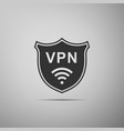 shield with vpn and wifi wireless network icon vector image
