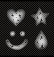 soap foam realistic monochrome set vector image vector image