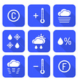 solid white color flat style weather forecast vector image