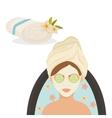 Spa center design Skin care concept Flat vector image