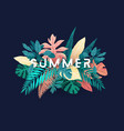 summer tropical design for banner or flyer vector image vector image