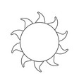 sun summer weather heat icon vector image