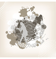 swirl tennis background vector image vector image