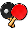 table tennis paddles cartoon vector image