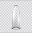 transparent glass bottle vector image