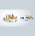 travel to portugal time to travel banner with vector image vector image