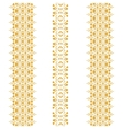 tribal seamless pattern gold vertical vector image