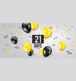 twenty one days left icon 21 days to go vector image vector image