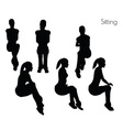 woman in Sitting pose vector image vector image