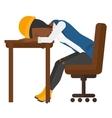 Woman sleeping on table vector image vector image