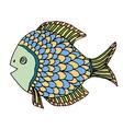 Zentangle Fish vector image vector image