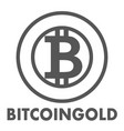 bitcoin gold sign icon for internet money vector image