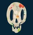 Print depicting a skull poster vector image