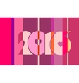 2016 year number on striped backdrop vector image vector image