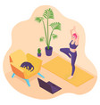 3d isometric flat design - healthy life style vector image