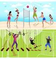 Active Leisure People Composition vector image