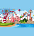 an outdoor scene with circus vector image