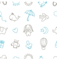 Baby shower related seamless pattern Hand drawn vector image