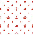 bath icons pattern seamless white background vector image vector image