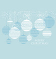 bauble decor pattern vector image vector image