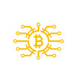 bitcoin icon on white vector image vector image