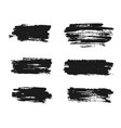black ink brush strokes hand painted vector image vector image