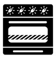brand gas stove icon simple style vector image vector image