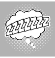 Bubble pop art of sleep design vector image vector image