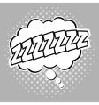 Bubble pop art of sleep design vector image