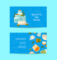 business card template for beauty and spa vector image vector image