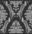 bw damask seamless pattern element