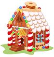 Cartoon gingerbread house vector image vector image