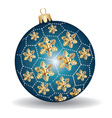 Christmas blue and gold ball vector | Price: 1 Credit (USD $1)