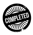 Completed stamp rubber grunge vector image