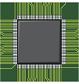 Computer microchip vector image vector image