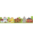 country elite houses or cottage for rent or sale vector image