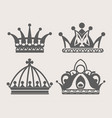 crown logo of royal diadem or heraldic tiara vector image vector image
