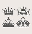 crown logo royal diadem or heraldic tiara vector image vector image