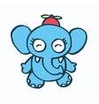 Cute elephant cartoon and propeller vector image