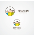 Design pencil logo element vector image