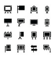 exhibition stands icons vector image