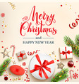 festive light cristmas card vector image vector image