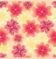 floral seamless pattern with flowers design vector image